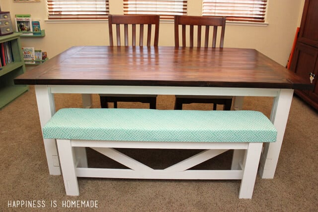 Diy Farmhouse Table Amp Bench Happiness Is Homemade