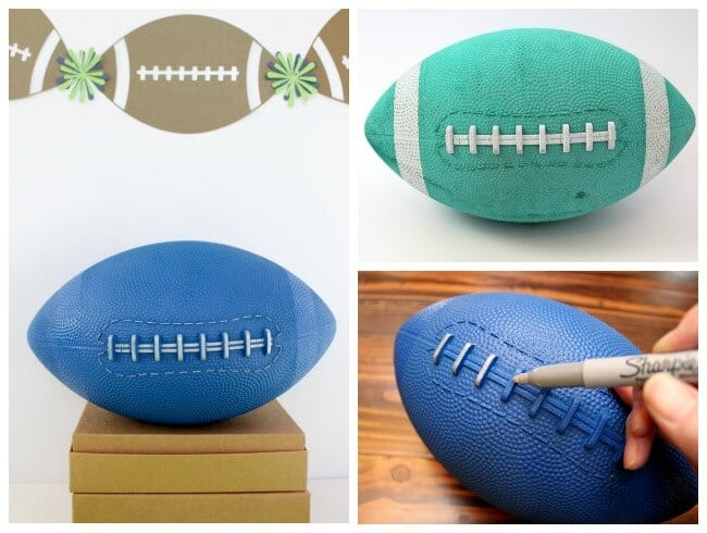 Sharpie Decorated Football