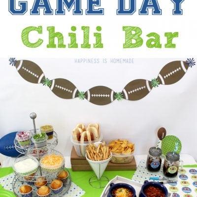 Super Bowl Game Day Chili Bar
