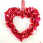 Kids Craft: Tissue Paper Heart Wreath