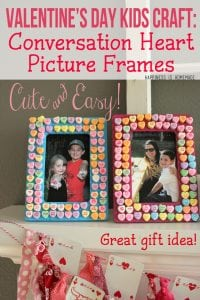 Valentine's Day Kids Craft - Conversation Heart Photo Frames
