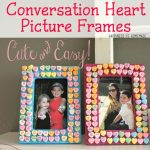 Kids Craft: Candy Heart Frames
