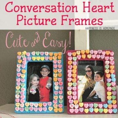 Kids Craft: Candy Heart Frames