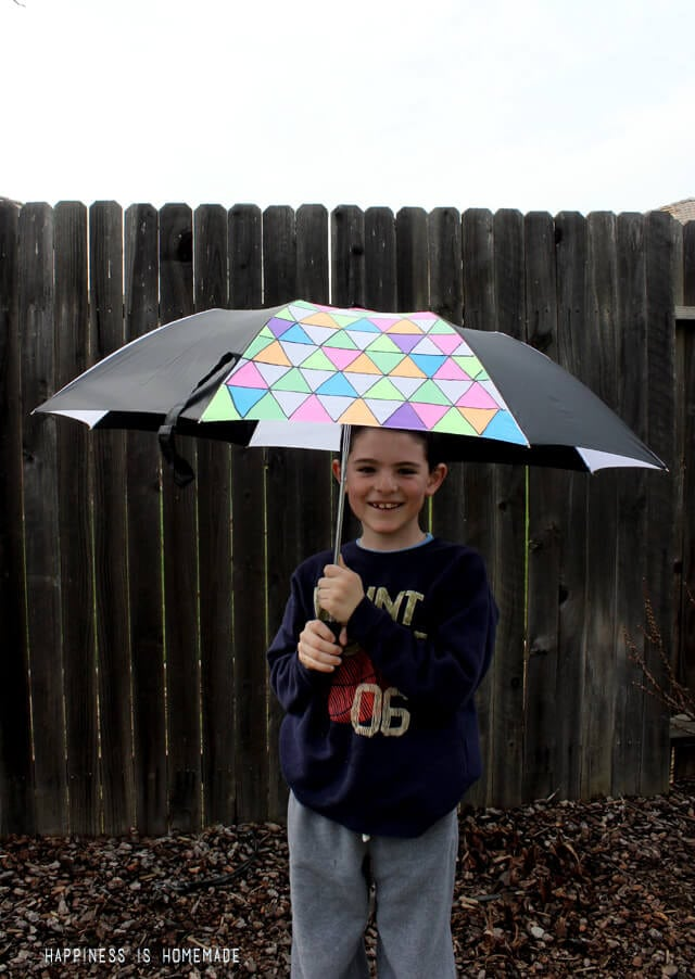 DIY Fabric Painted Umbrella