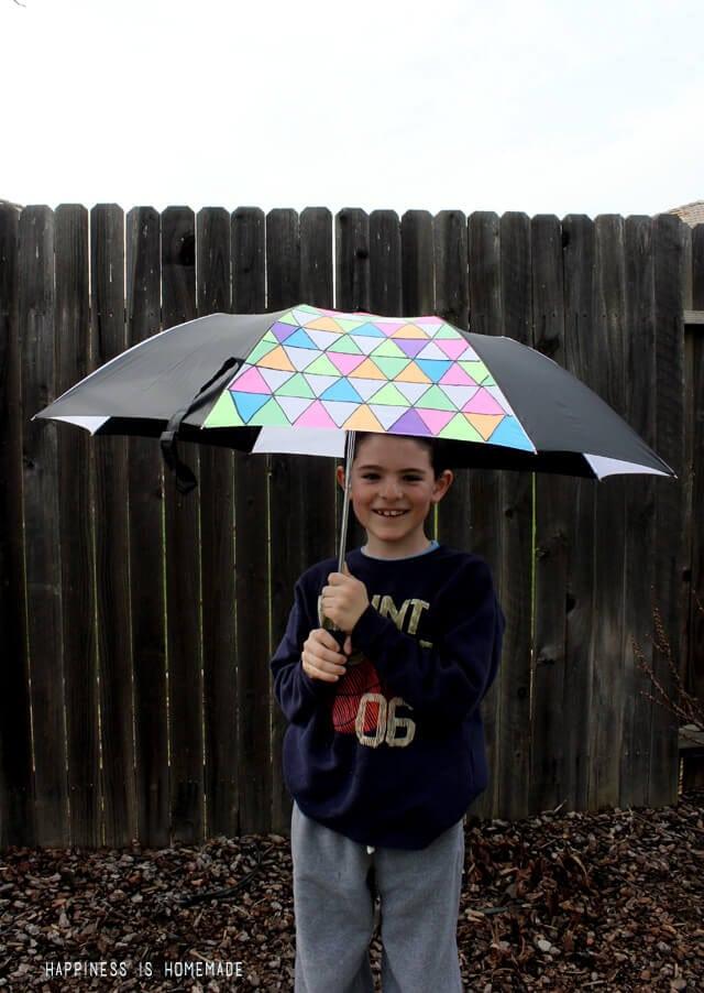 DIY Fabric Painted Umbrella