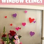 DIY Valentine's Day Window Clings