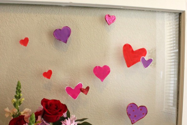 DIY Valentine's Day Window Clings with Elmer's Glue