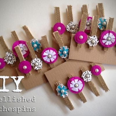 DIY Embellished Clothespins
