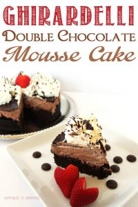 Decadent Ghirardelli Double Chocolate Mousse Cake