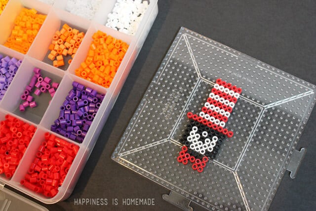 Dr Seuss Inspired Cat in the Hat Perler Bead Pattern