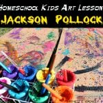 Homeschool Kids Art Lesson: Jackson Pollock