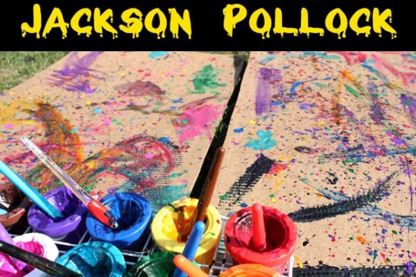 Homeschool Art Lesson - Jackson Pollock and Drip Painting
