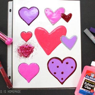 DIY Valentine's Day Window Clings