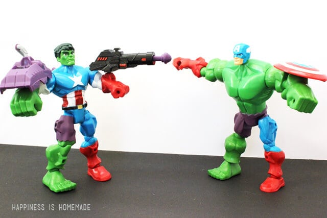 Marvel Super Hero Mashers Hulk and Captain America