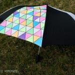 DIY Geometric Umbrella – Get Your Neon On!