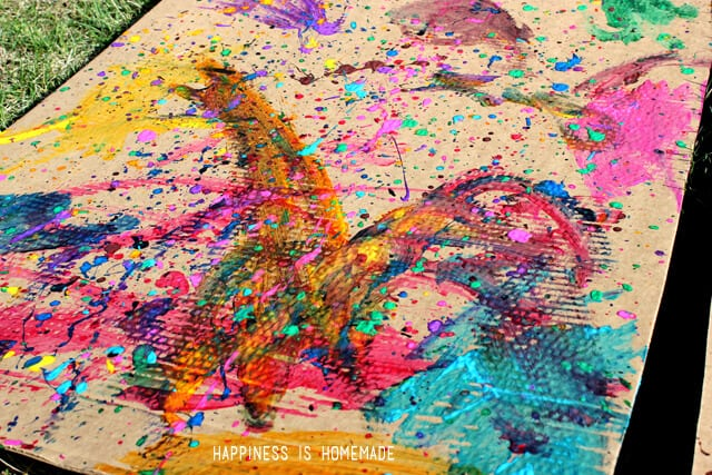 Homeschool Kids Art Lesson Jackson Pollock Happiness Is