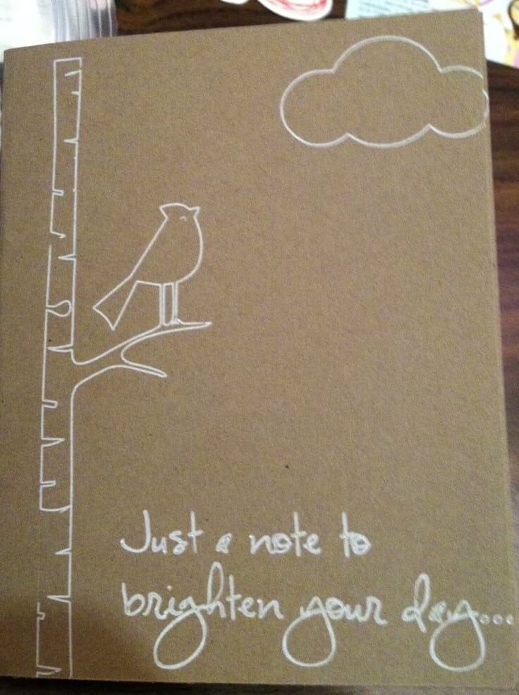 Silhouette Sketch Pen Card