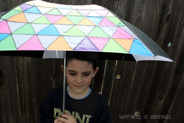 Tulip Fabric Painted Neon Umbrella