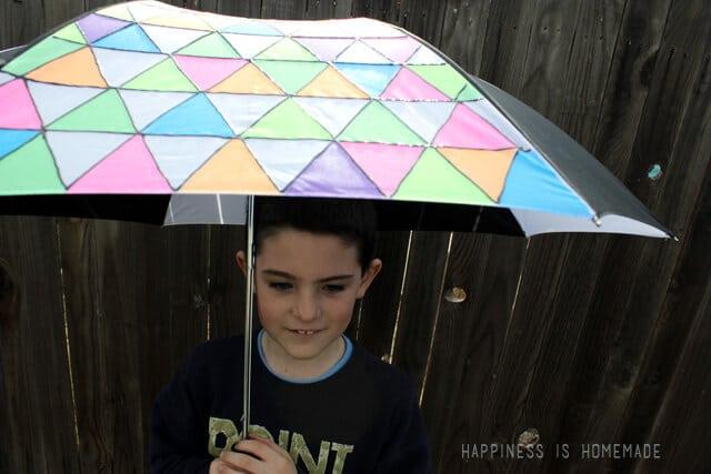 Tulip Fabric Painted Neon Umbrella