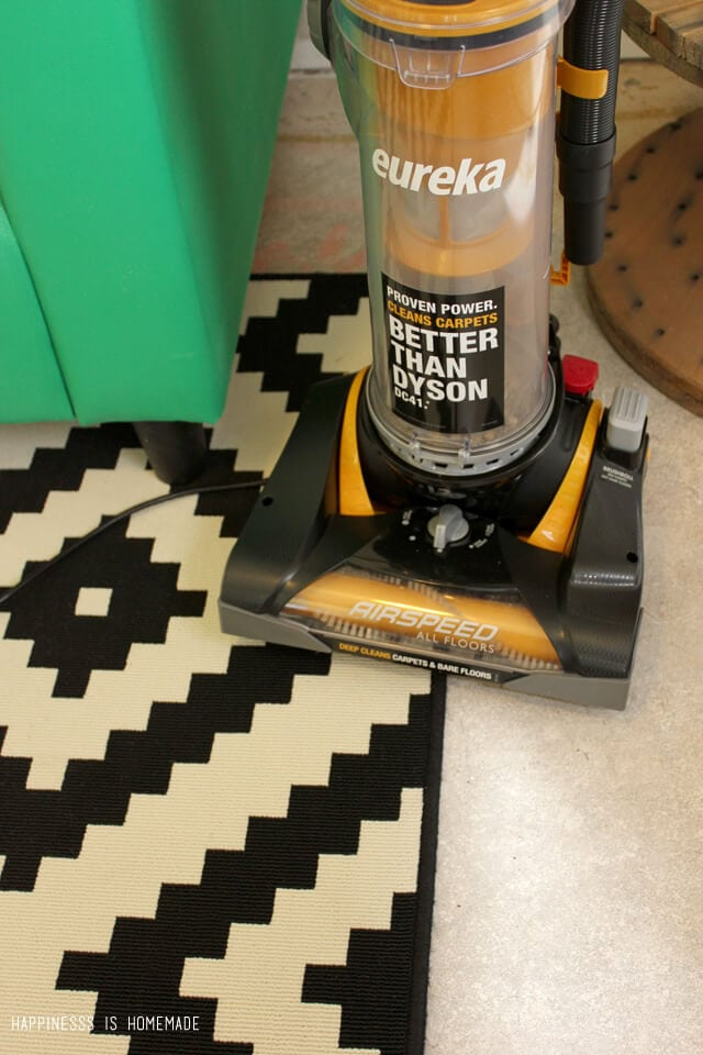 Eureka AirSpeed All Floors works perfectly on concrete floors and rugs