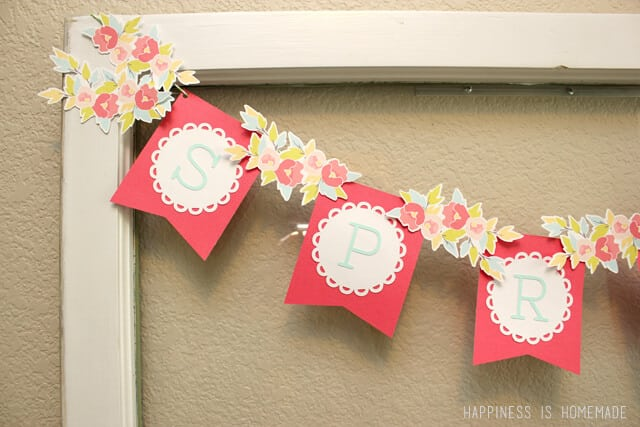 Fast and Easy Spring Banner with Silhouette Print and Cut