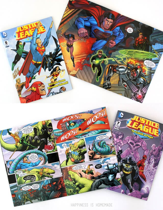 General Mills Cereals with Free Justice League Comic Books Inside