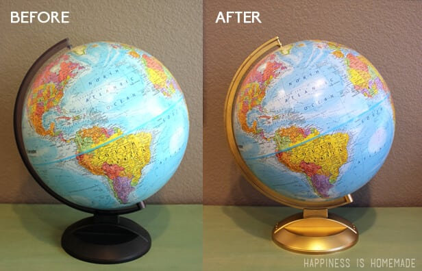 Gold Painted Globe