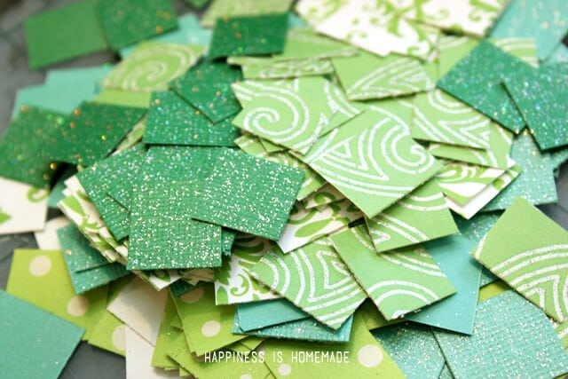 Green Paper Mosaic Squares