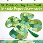 St. Patrick's Day Kids Craft: Mosaic Paper Shamrocks