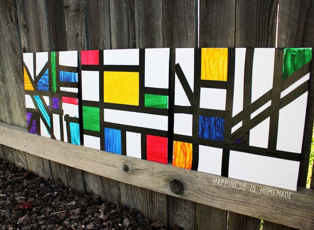 Piet Mondrian Inspired Kids Abstract Art Lesson