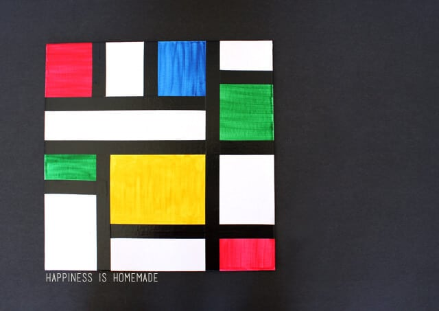 Piet Mondrian Kids Abstract Art Lesson