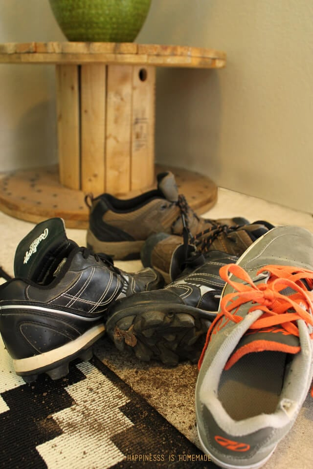 Pile of Dirty Boys Shoes
