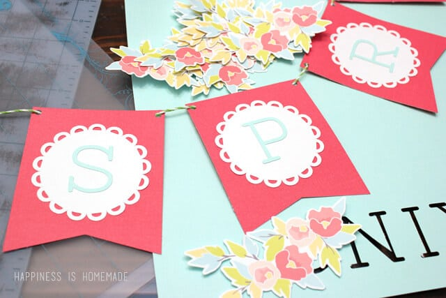 Quick and Easy Spring Banner with Silhouette Print and Cut