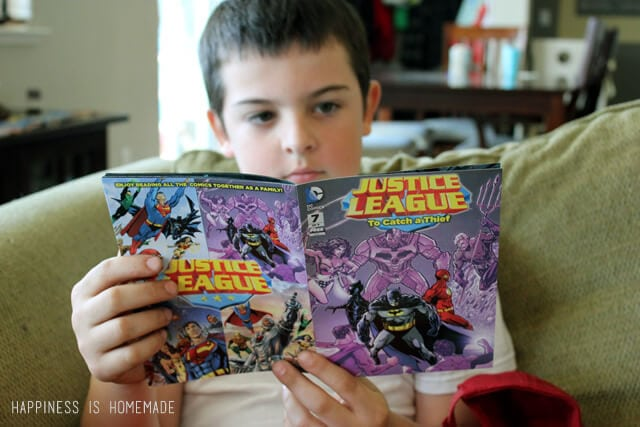 Reading Big G Cereals Justice League Free Comic Book