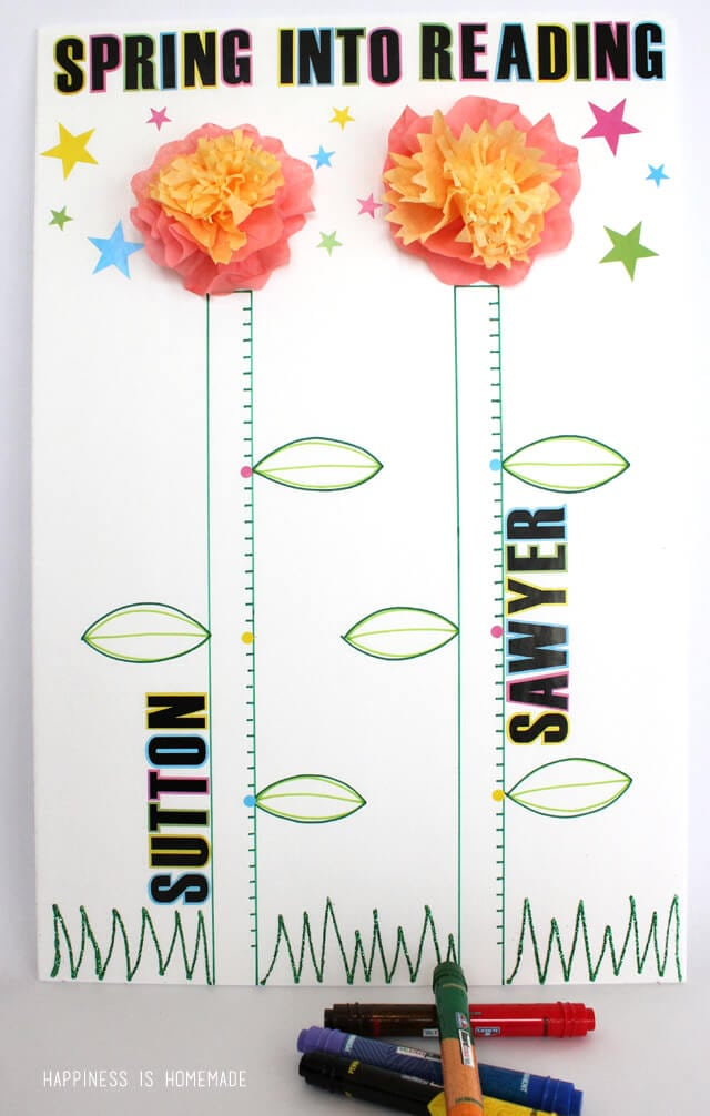 Spring Reading Incentive Chart with Elmers Board Mate Products