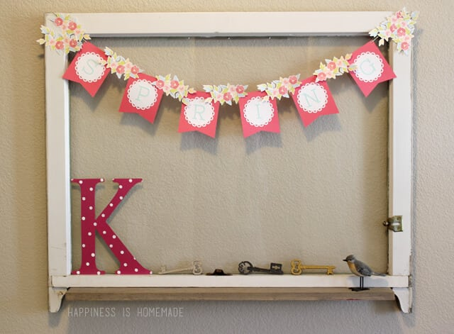 Springtime Banner with Silhouette