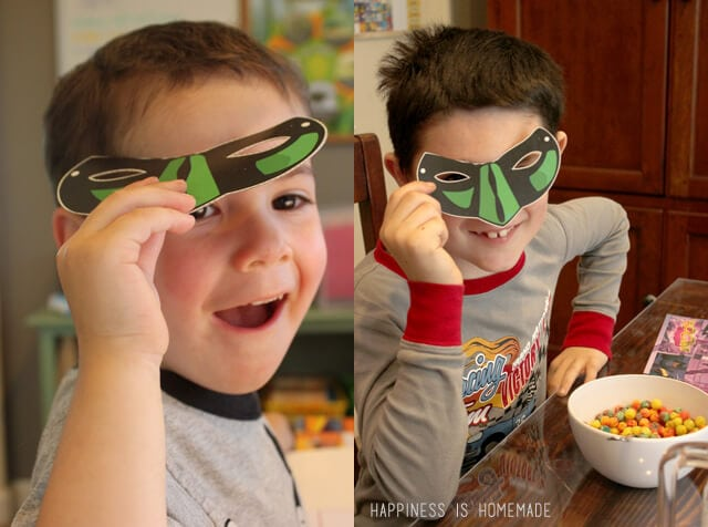 Superhero Masks from General Mills Cereal Boxes