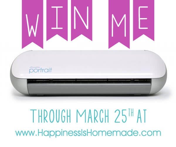 Win a Silhouette Portrait at Happiness is Homemade