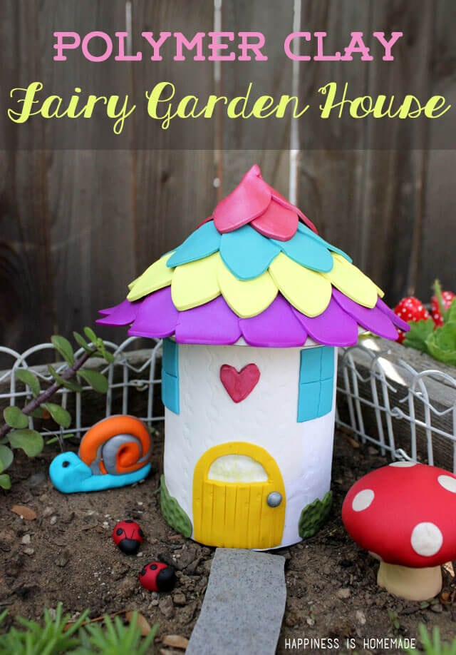 Make your own fairy garden houses decorations for Homemade garden decor crafts