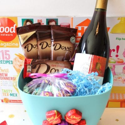 Mother's Day Wine & Dark Chocolate Gift Basket