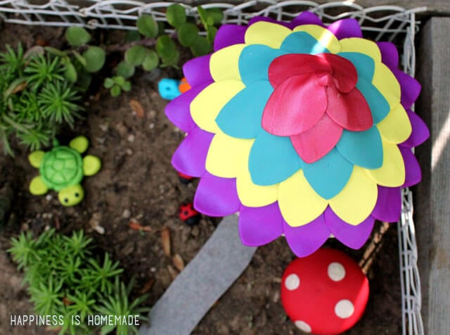 Flower Petal Fairy Garden House Roof