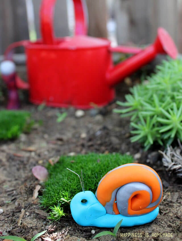 Kid Made Polymer Clay Snail