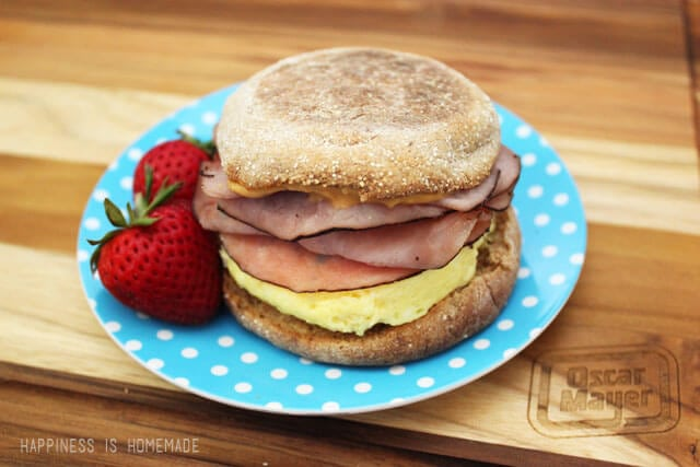 Oscar Mayer Bold Sweet and Spicy Breakfast Sandwich with Maple Honey Ham