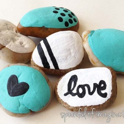Bring Nature Indoors with Painted Rocks by Spoonful of Imagination