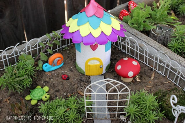Polymer Clay Fairy Garden House and Accessories