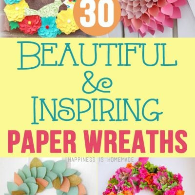 30 Beautiful & Inspiring Paper Wreaths