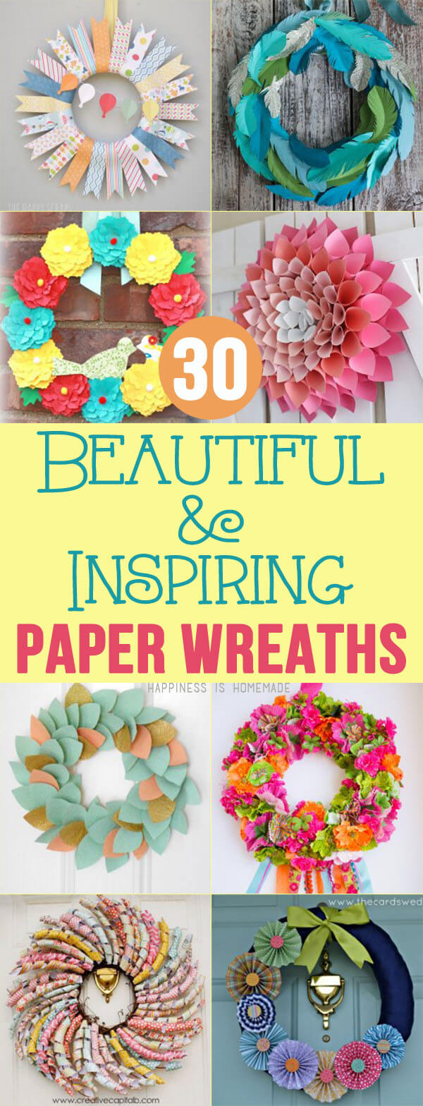 30 Beautiful and Inspiring Paper Wreaths