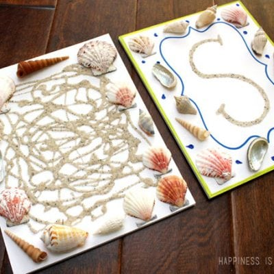 Kids Craft: Summer Beach Themed Sand & Shell Art