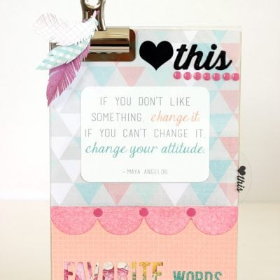 Clipboard Display Stand for Your Favorite Quotes