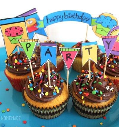 Cute Rainbow Birthday Party Printables